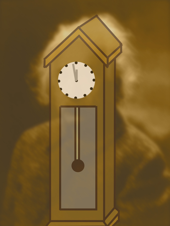 Clock old man